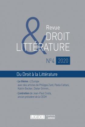 Revue Droit & Littérature N°4-2020