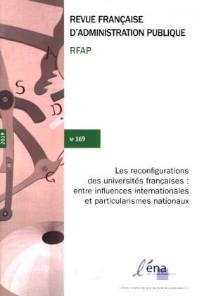 Revue française d'administration publique, 2019 N°169