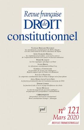 Revue française de droit constitutionnel, mars 2020 N°121