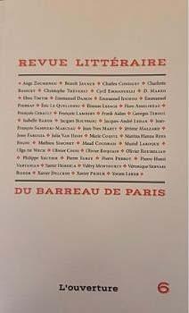Revue littéraire du barreau de Paris N°6