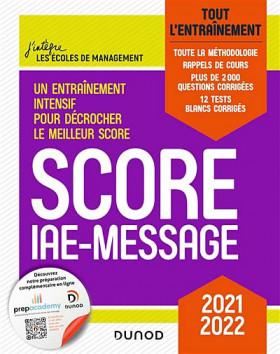 Score IAE-Message : tout l'entraînement 2021-2022