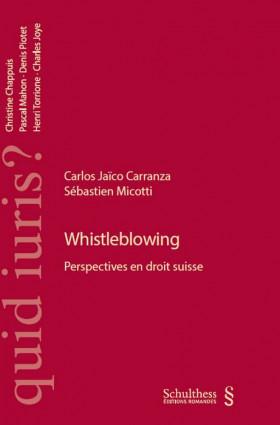 Whistleblowing. Perspectives en droit suisse